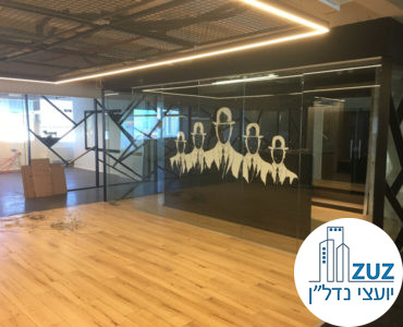 אופן ספייס וחדר זכוכית במשרד במגדל כלבו שלום תל אביב