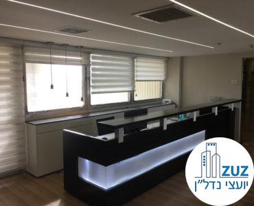 עמדת קבלה במשרד במגדל אמות משפט תל אביב