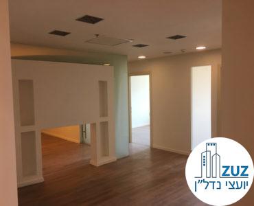 פינת כניסה במשרד במגדל אמות השקעות תל אביב