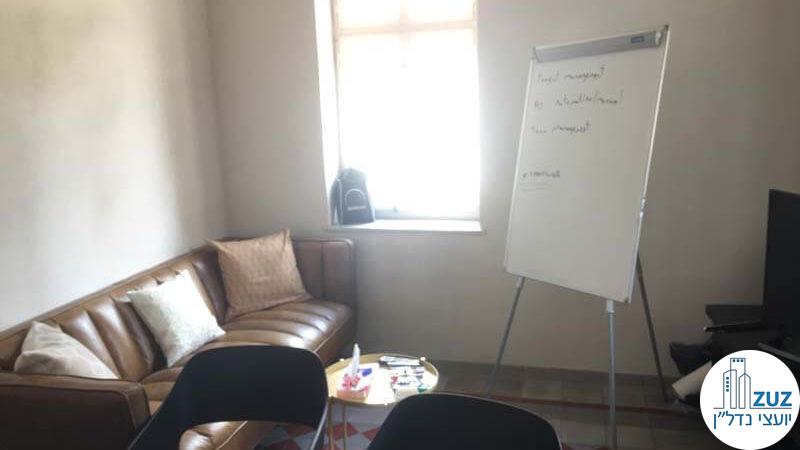 פינת ישיבה במשרד במתחם הטמפלרים תל אביב