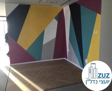 קיר מעוצב במשרד במגדלי אלון תל אביב