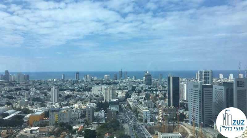 נוף ממשרד במגדל היובל תל אביב