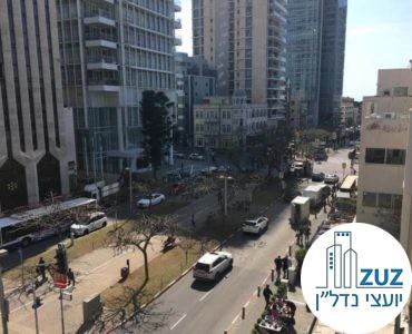 נוף של שדרות רוטשילד ממשרד להשכרה ברוטשילד תל אביב