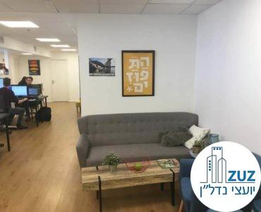 פינת המתנה במשרד בנחלת יצחק תל אביב