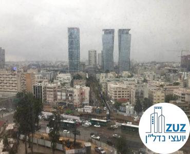נוף ממשרד במגדל פלטינום תל אביב