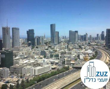 נוף ממשרד במגדל אדגר 360 תל אביב