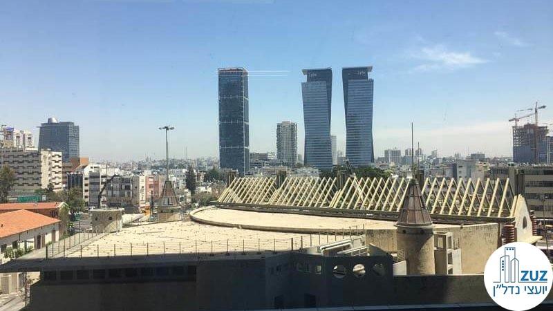נוף ממשרד במגדל הארבעה צפוני תל אביב