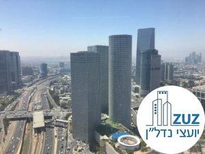 נוף ממשרד במגדל מידטאון תל אביב
