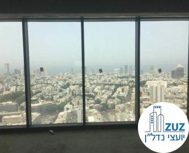 נוף לים במשרד במגדלי הארבעה תל אביב