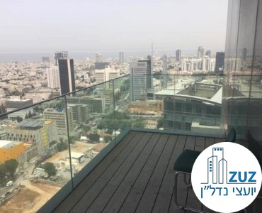 מרפסת במשרד במגדלי הארבעה תל אביב