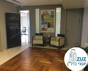 פינת המתנה במשרד במגדל ויצמן תל אביב
