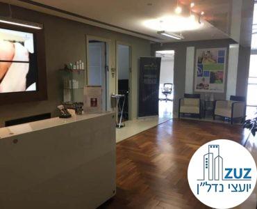 עמדת קבלה במשרד במגדל ויצמן תל אביב