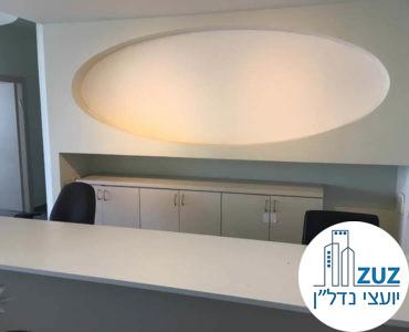 עמדת קבלה במשרד במרכז ויצמן תל אביב