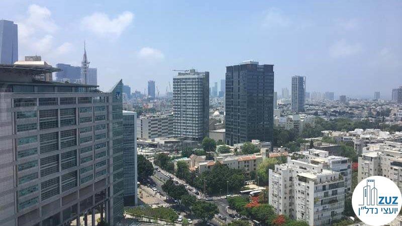 נוף מחלון במשרד במרכז ויצמן תל אביב