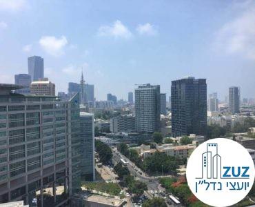 נוף במשרד במגדל ויצמן תל אביב