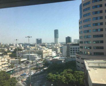 נוף ממשרד במגדלי הארבעה תל אביב