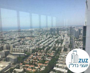 נוף ממשרד במגדל מידאטון תל אביב