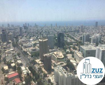 נוף לים במשרד במגדל מידטאון תל אביב