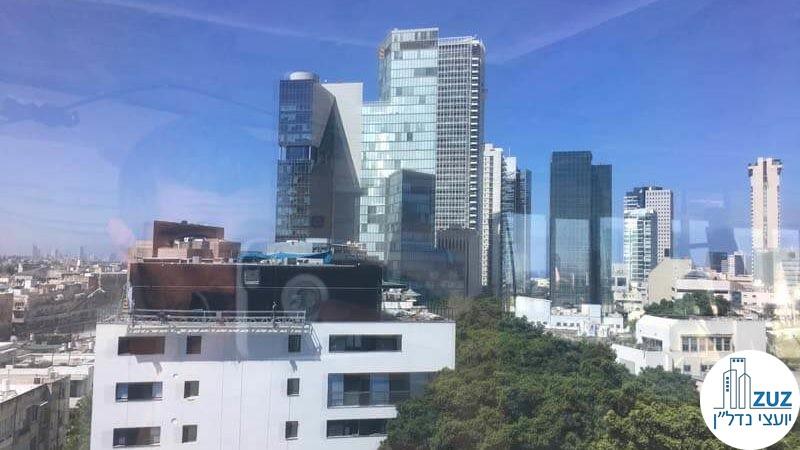 נוף ממשרד בבית מוזס רוטשילד תל אביב