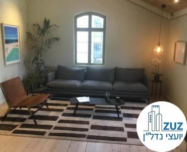 פינת המתנה במשרד במתחם שרונה הטמפלרים תל אביב