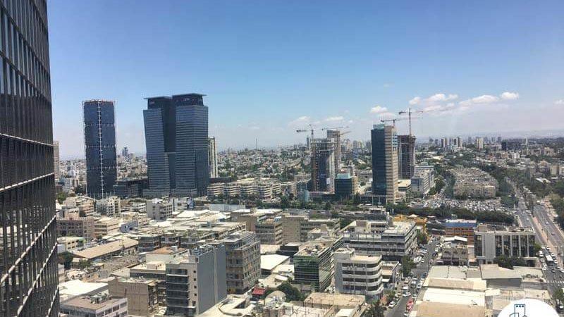 נוף למגדלי אלון במשרד במגדל נצבא תל אביב