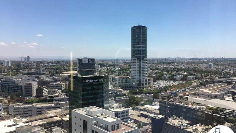 נוף במשרד במגדל נצבא תל אביב