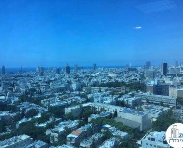 נוף לים במשרד במגדל סונול תל אביב
