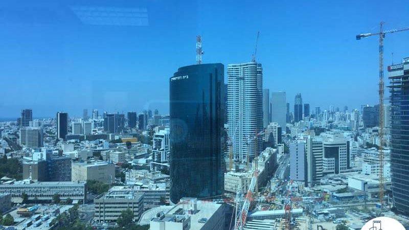 נוף במשרד במגדל סונול תל אביב