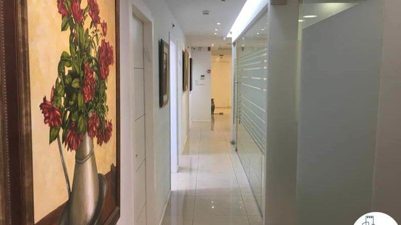 מסדרון במשרד בבית אשדר תל אביב