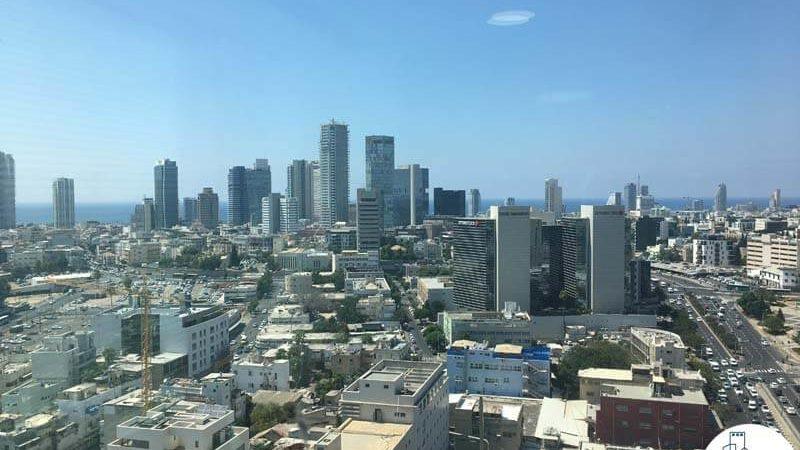 נוף לים במשרד במגדל אלקטרה סיטי תל אביב