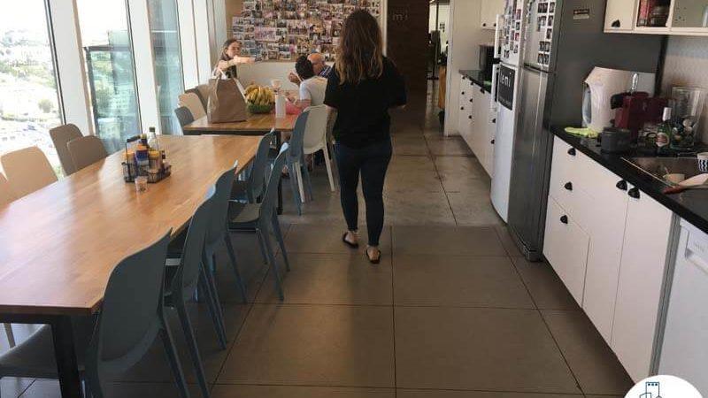 פינת אוכל במשרד במגדל אלקטרה סיטי תל אביב