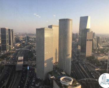 נוף למגדלי עזריאלי במשרד במגדל מידטאון תל אביב