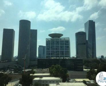 נוף למגדלי עזריאלי במשרד להשכרה לעורכי דין בתל אביב