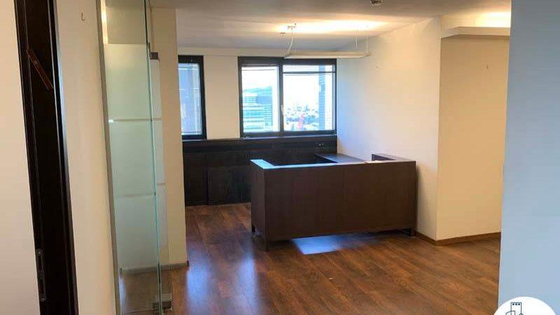 פינת קבלה במשרד להשכרה במגדל דניאל פריש תל אביב
