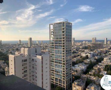 נוף לים במשרד להשכרה במגדל דניאל פריש תל אביב