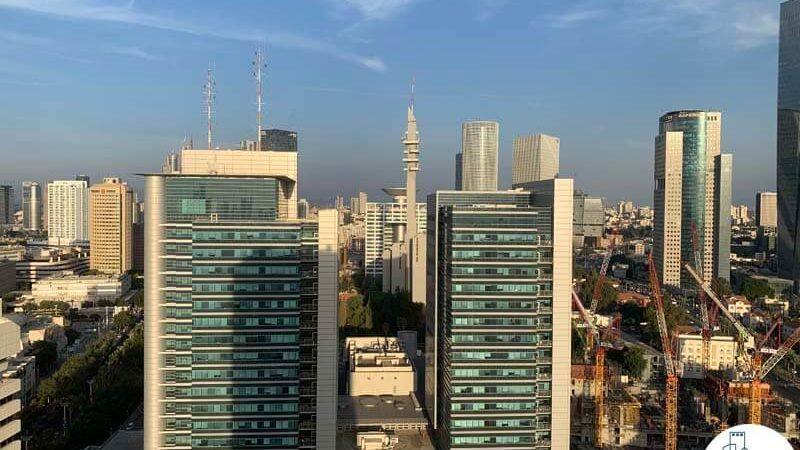 נוף במשרד להשכרה במגדל דניאל פריש תל אביב