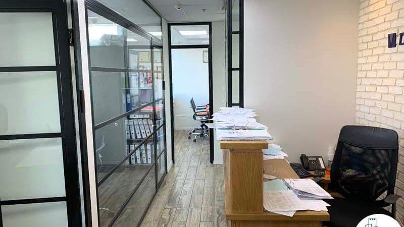 כניסה לחדרים במשרד להשכרה במגדל אלקטרה סיטי תל אביב