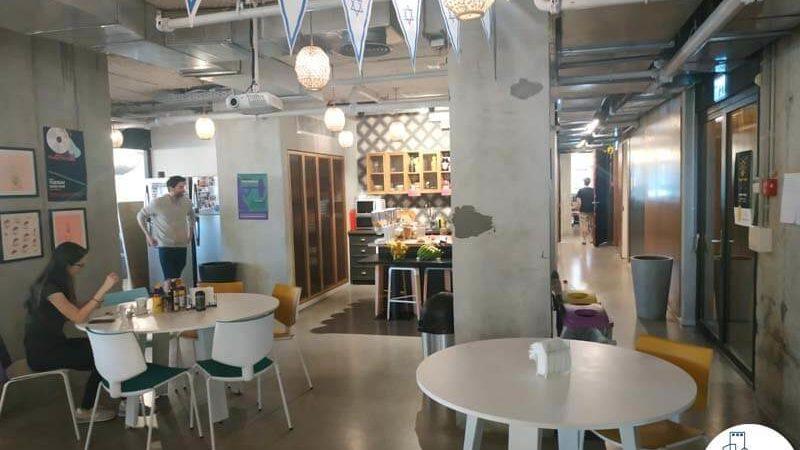 פינת אוכל במשרד להשכרה במתחם שרונה תל אביב
