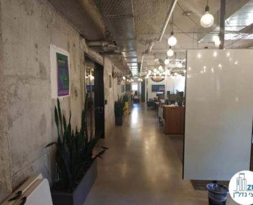 מסדרון במשרד להשכרה במתחם שרונה תל אביב