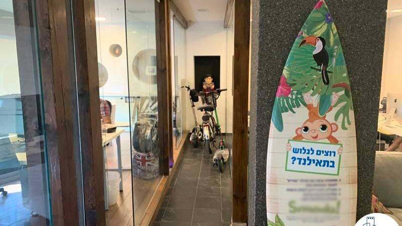 כניסה לחדרים במשרד להשכרה במתחם רוטשילד תל אביב