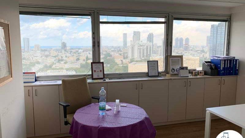 חדר אוכל במשרד להשכרה במתחם בית המשפט תל אביב