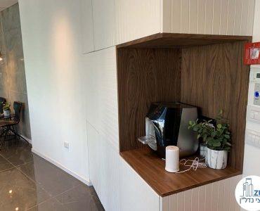 פינת קפה במשרד להשכרה במגדל WE תל אביב