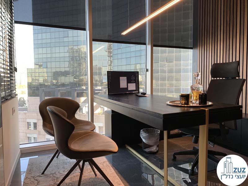 חדר מנהלים במשרד להשכרה במגדל WE תל אביב