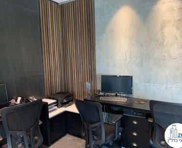 פינת עבודה במשרד להשכרה במגדל WE תל אביב