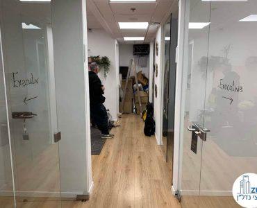 מסדרון של משרד להשכרה ליד עזריאלי תל אביב