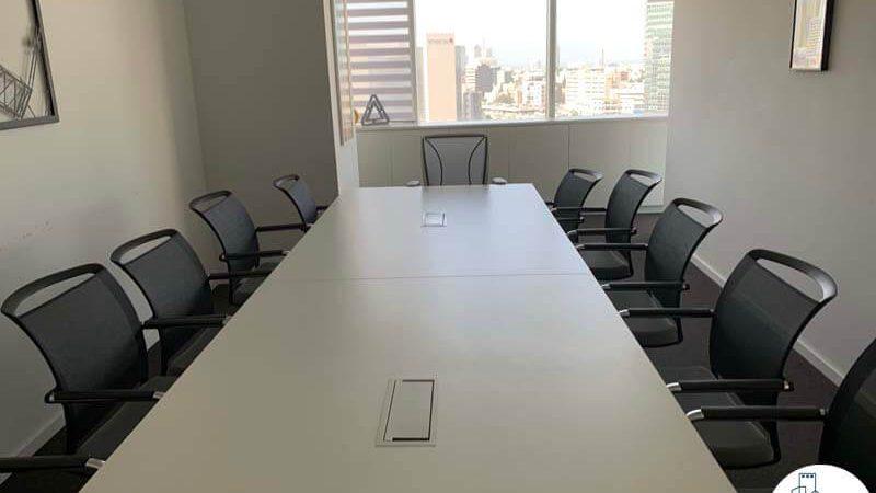 חדר ישיבות של משרד להשכרה בתל אביב במגדל אלקטרה סיטי