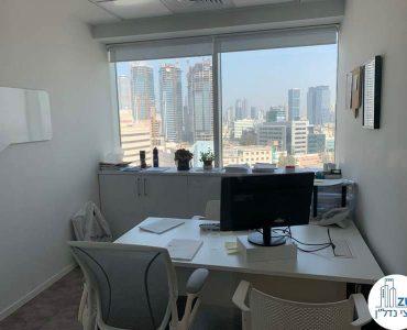 חדר עבודה של משרד להשכרה בתל אביב במגדל אלקטרה סיטי