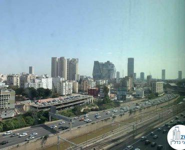 נוף לאיילון מתוך משרד להשכרה במגדל רסיטל תל אביב
