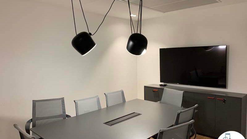 חדר ישיבות של משרד להשכרה במתחם בארבעה תל אביב