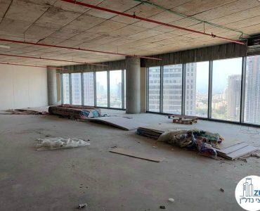 משרד ברמת מעטפת למכירה במגדל ספיר הבורסה רמת גן